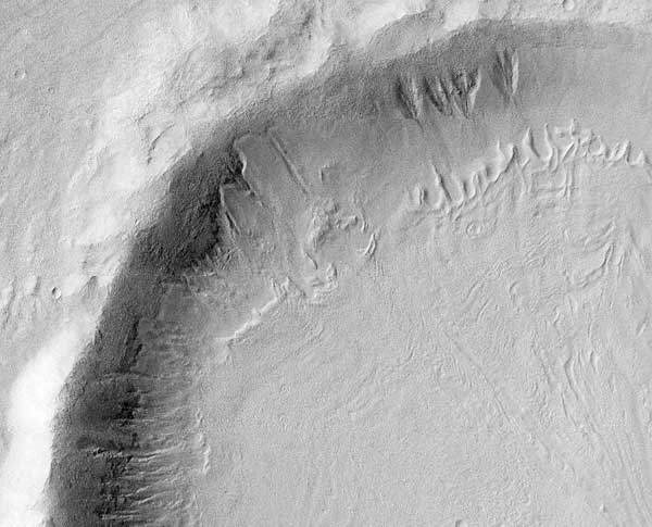 śnieg na Marsie